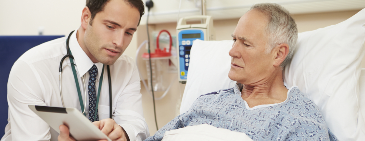 Doctor Explaining Results to Senior Patient